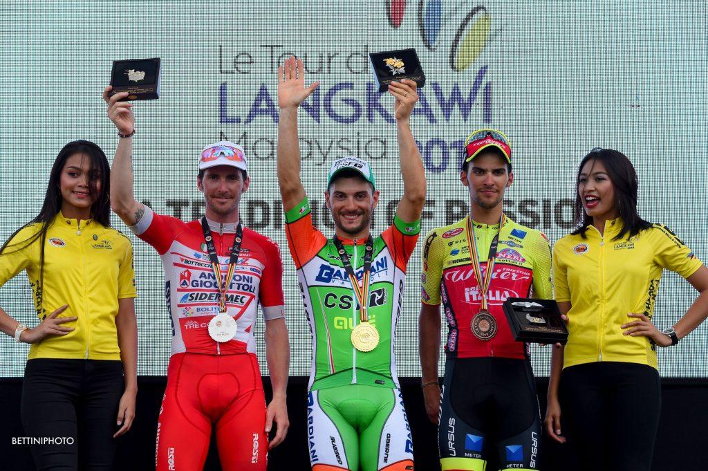 Le Tour de Langkawi 2018 - 23rd Edition - 8th stage Rembau - Kuala Lumpur 141,5 km - 25/03/2018 - Andrea Guardini (ITA - Bardiani - CSF) - Luca Pacioni (ITA - Wilier Triestina - Selle Italia) - Manuel Belletti (ITA - Androni - Sidermec - Bottecchia) - photo Dario Belingheri/BettiniPhoto©2018