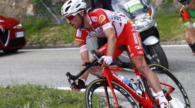 Giro d'Italia 2018 - 101th Edition - 14th stage San Vito al Tagliamento - Monte Zoncolan 186 km - 19/05/2018 - Francesco Gavazzi (ITA - Androni - Sidermec - Bottecchia) - Enrico Barbin (ITA - Bardiani - CSF) - photo Luca Bettini/BettiniPhoto©2018